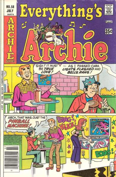 Everything's Archie #58 comic books - cover scans photos Everything's Archie #58 comic books - covers, picture gallery