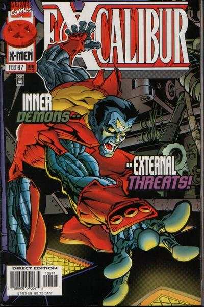 Excalibur #106 comic books - cover scans photos Excalibur #106 comic books - covers, picture gallery
