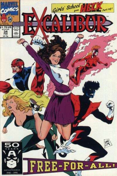 Excalibur #34 Comic Books - Covers, Scans, Photos  in Excalibur Comic Books - Covers, Scans, Gallery