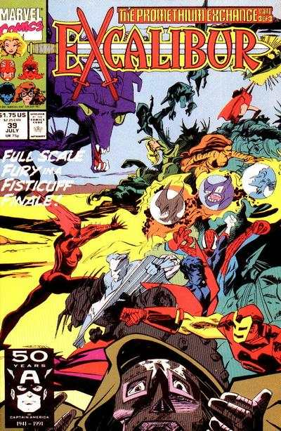 Excalibur #39 comic books for sale