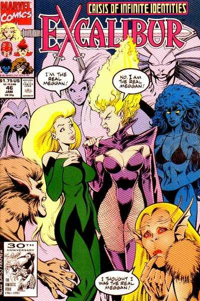Excalibur #46 comic books - cover scans photos Excalibur #46 comic books - covers, picture gallery