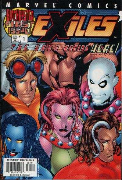 Exiles comic books