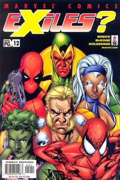 Exiles #12 comic books - cover scans photos Exiles #12 comic books - covers, picture gallery