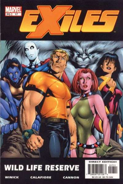 Exiles #17 comic books - cover scans photos Exiles #17 comic books - covers, picture gallery