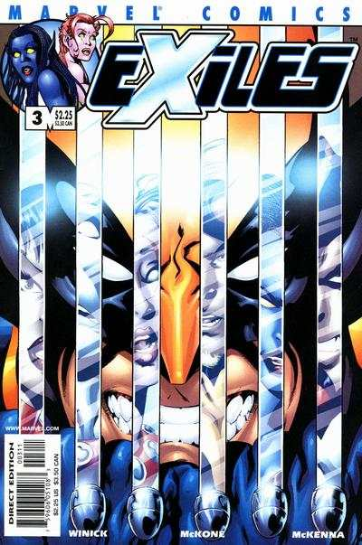Exiles #3 comic books - cover scans photos Exiles #3 comic books - covers, picture gallery