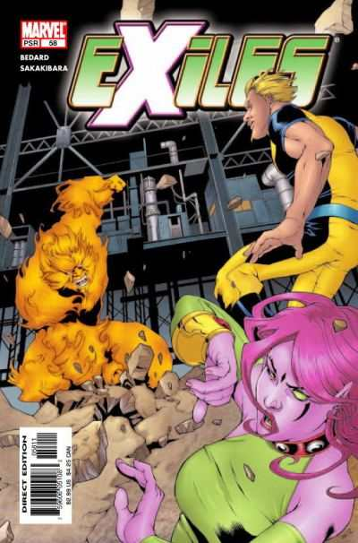Exiles #58 comic books - cover scans photos Exiles #58 comic books - covers, picture gallery