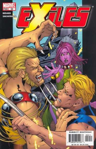 Exiles #59 comic books - cover scans photos Exiles #59 comic books - covers, picture gallery