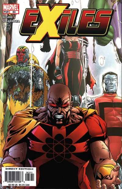 Exiles #63 comic books - cover scans photos Exiles #63 comic books - covers, picture gallery