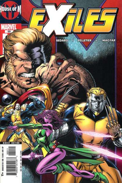 Exiles #69 comic books - cover scans photos Exiles #69 comic books - covers, picture gallery