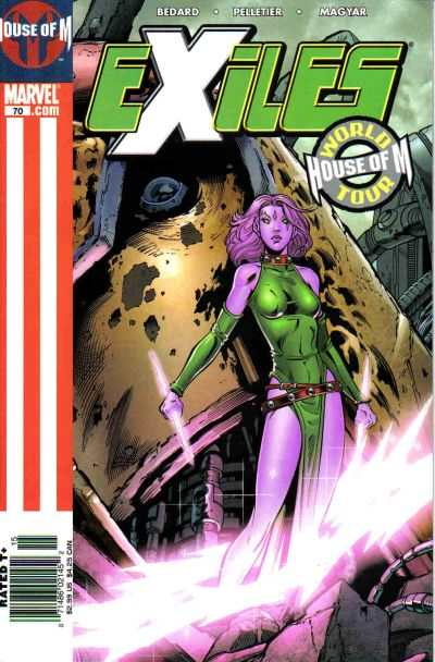 Exiles #70 comic books - cover scans photos Exiles #70 comic books - covers, picture gallery