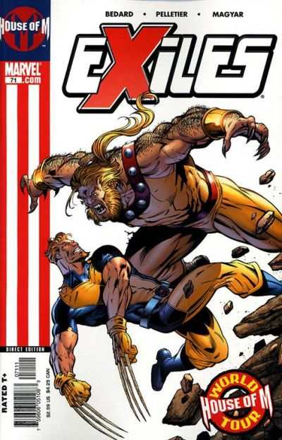 Exiles #71 comic books - cover scans photos Exiles #71 comic books - covers, picture gallery