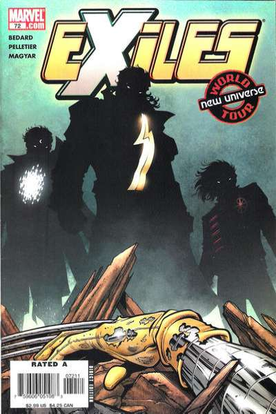 Exiles #72 comic books for sale