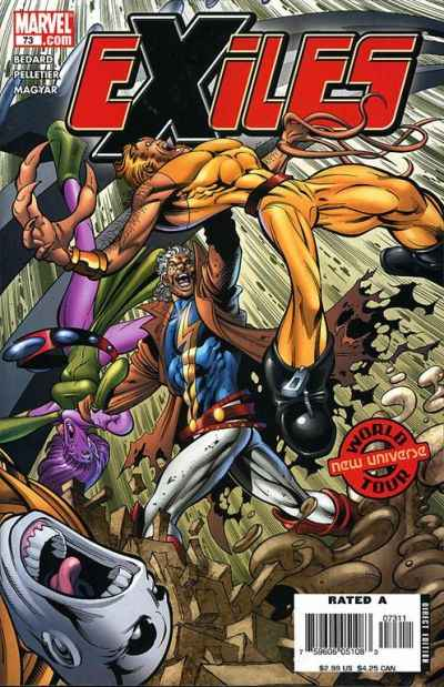 Exiles #73 comic books - cover scans photos Exiles #73 comic books - covers, picture gallery