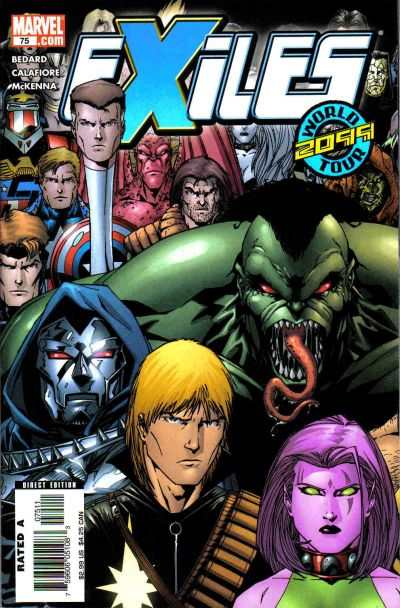 Exiles #75 comic books - cover scans photos Exiles #75 comic books - covers, picture gallery
