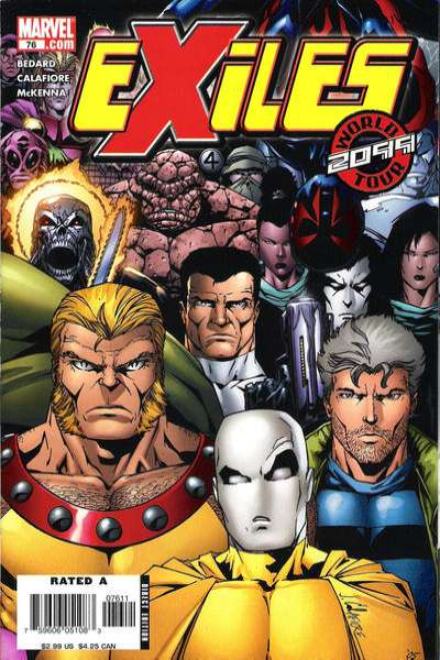 Exiles #76 comic books - cover scans photos Exiles #76 comic books - covers, picture gallery