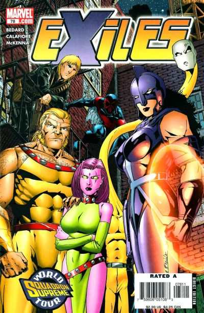 Exiles #78 comic books - cover scans photos Exiles #78 comic books - covers, picture gallery