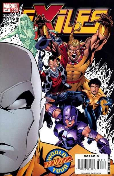 Exiles #82 comic books - cover scans photos Exiles #82 comic books - covers, picture gallery