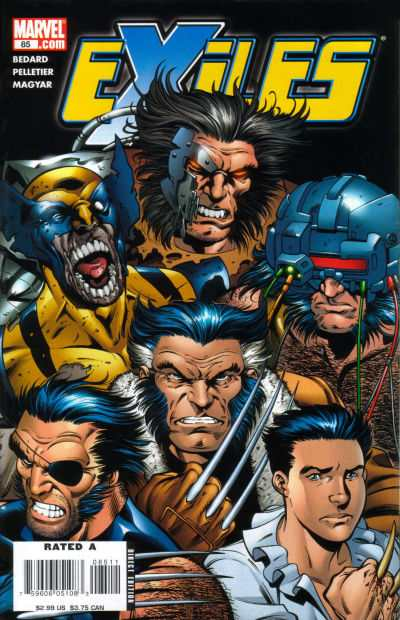 Exiles #85 comic books - cover scans photos Exiles #85 comic books - covers, picture gallery