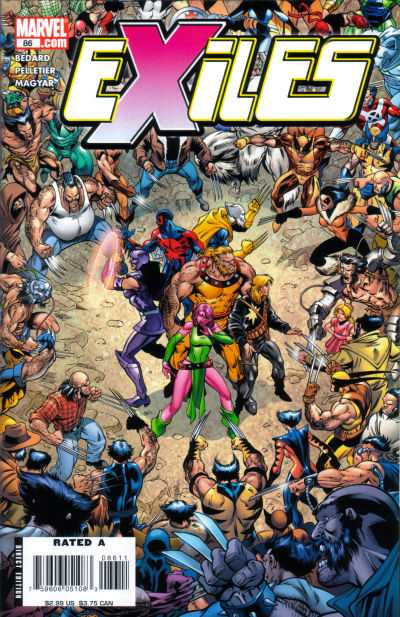 Exiles #86 comic books - cover scans photos Exiles #86 comic books - covers, picture gallery