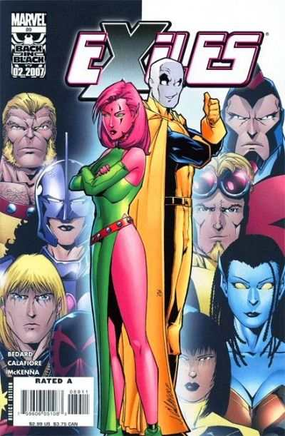 Exiles #89 comic books - cover scans photos Exiles #89 comic books - covers, picture gallery
