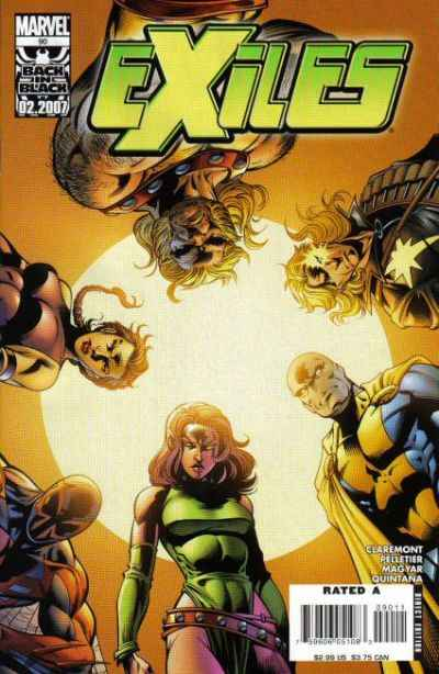 Exiles #90 comic books - cover scans photos Exiles #90 comic books - covers, picture gallery