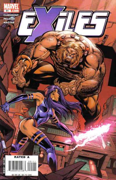 Exiles #91 comic books - cover scans photos Exiles #91 comic books - covers, picture gallery