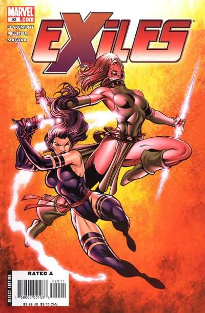 Exiles #92 comic books - cover scans photos Exiles #92 comic books - covers, picture gallery