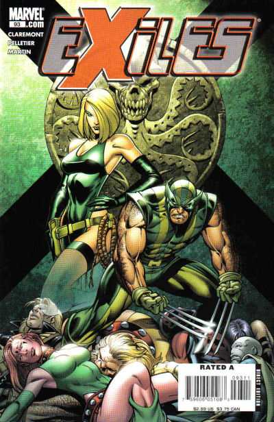 Exiles #93 comic books - cover scans photos Exiles #93 comic books - covers, picture gallery