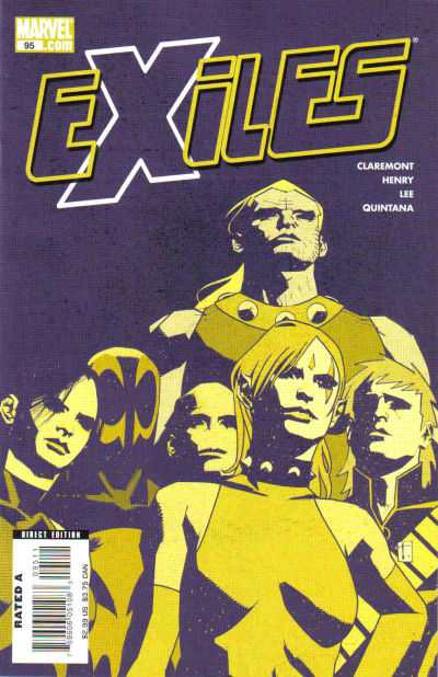 Exiles #95 comic books - cover scans photos Exiles #95 comic books - covers, picture gallery