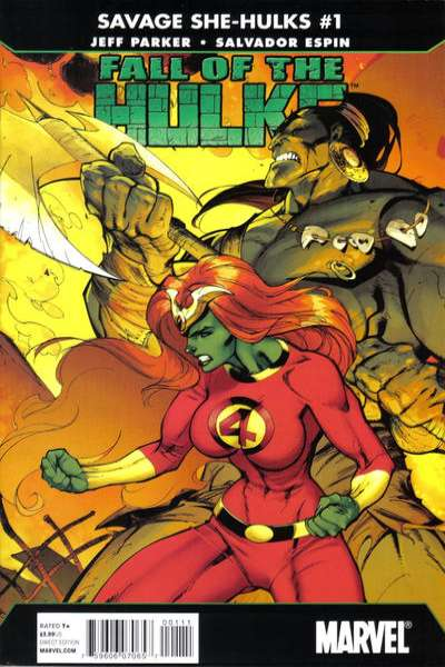 Fall of the Hulks: The Savage She-Hulks #1 comic books - cover scans photos Fall of the Hulks: The Savage She-Hulks #1 comic books - covers, picture gallery