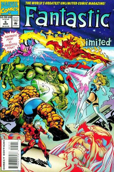 Fantastic Four Unlimited #5 comic books for sale