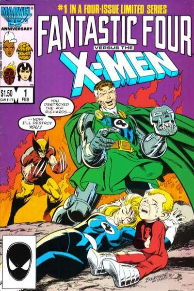 Fantastic Four vs. the X-Men #1 Comic Books - Covers, Scans, Photos  in Fantastic Four vs. the X-Men Comic Books - Covers, Scans, Gallery