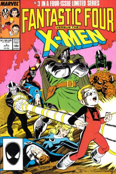 Fantastic Four vs. the X-Men #3 Comic Books - Covers, Scans, Photos  in Fantastic Four vs. the X-Men Comic Books - Covers, Scans, Gallery