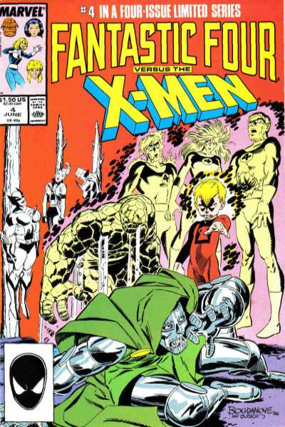 Fantastic Four vs. the X-Men #4 Comic Books - Covers, Scans, Photos  in Fantastic Four vs. the X-Men Comic Books - Covers, Scans, Gallery