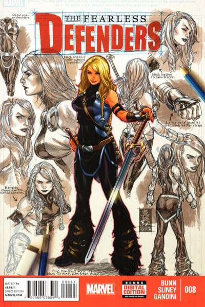 Fearless Defenders #8 comic books - cover scans photos Fearless Defenders #8 comic books - covers, picture gallery
