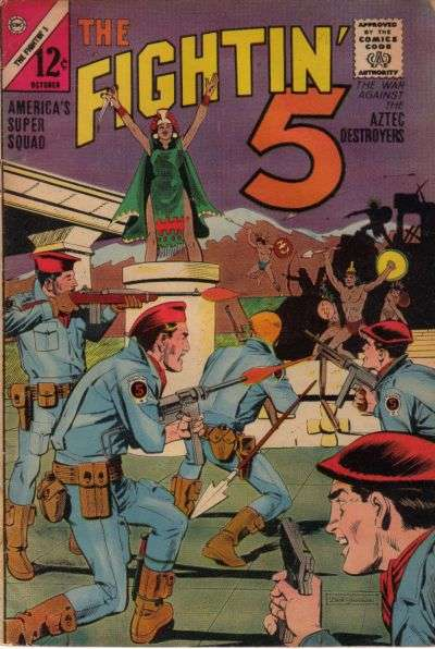 Fightin' Five #29 comic books - cover scans photos Fightin' Five #29 comic books - covers, picture gallery