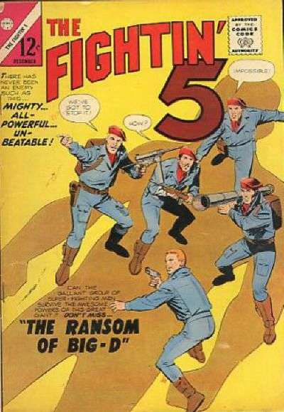 Fightin' Five #30 comic books - cover scans photos Fightin' Five #30 comic books - covers, picture gallery