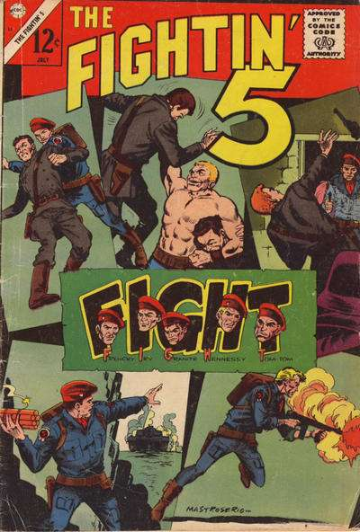 Fightin' Five #33 comic books - cover scans photos Fightin' Five #33 comic books - covers, picture gallery