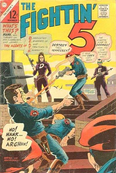 Fightin' Five #40 comic books - cover scans photos Fightin' Five #40 comic books - covers, picture gallery