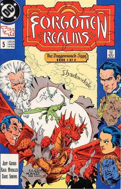 Forgotten Realms #5 comic books - cover scans photos Forgotten Realms #5 comic books - covers, picture gallery