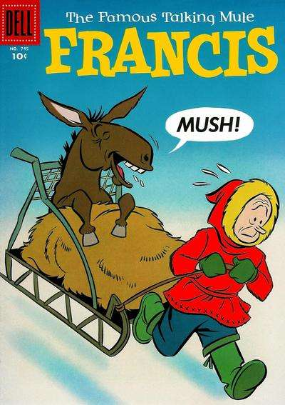 Francis: The Famous Talking Mule #10 comic books - cover scans photos Francis: The Famous Talking Mule #10 comic books - covers, picture gallery