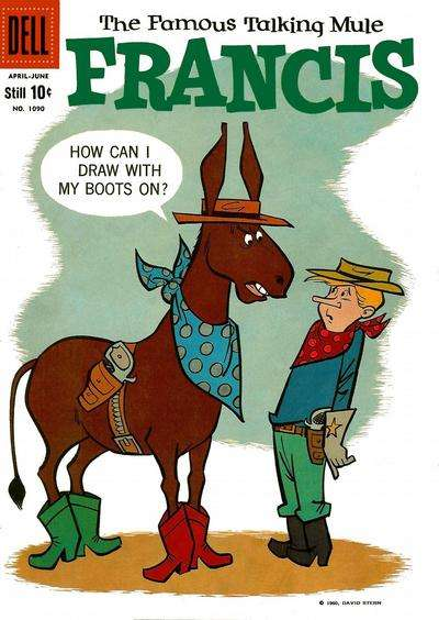 Francis: The Famous Talking Mule #17 comic books - cover scans photos Francis: The Famous Talking Mule #17 comic books - covers, picture gallery