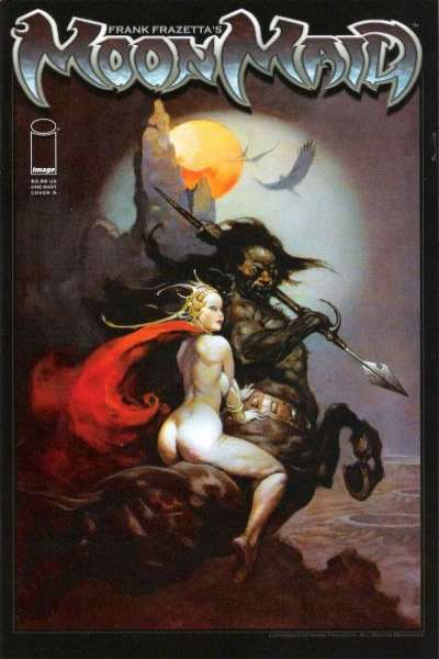Frank Frazetta's Moon Maid #1 comic books - cover scans photos Frank Frazetta's Moon Maid #1 comic books - covers, picture gallery