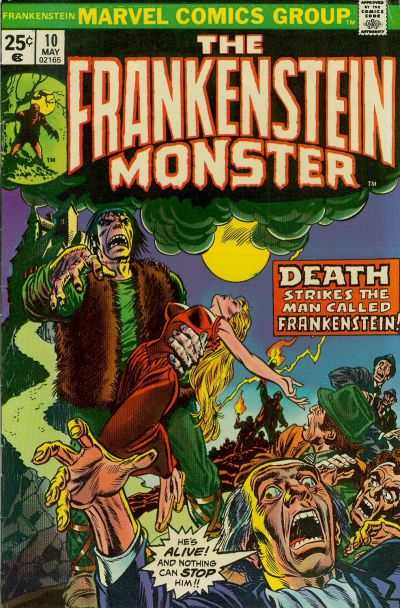 Frankenstein #10 comic books - cover scans photos Frankenstein #10 comic books - covers, picture gallery