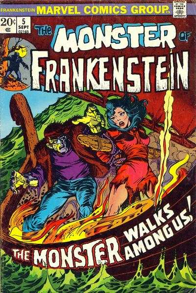 Frankenstein #5 comic books - cover scans photos Frankenstein #5 comic books - covers, picture gallery