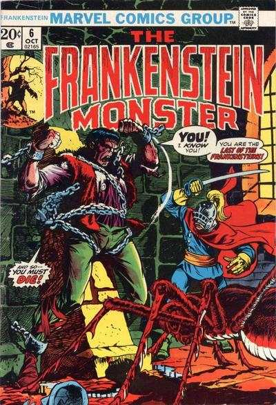 Frankenstein #6 comic books - cover scans photos Frankenstein #6 comic books - covers, picture gallery