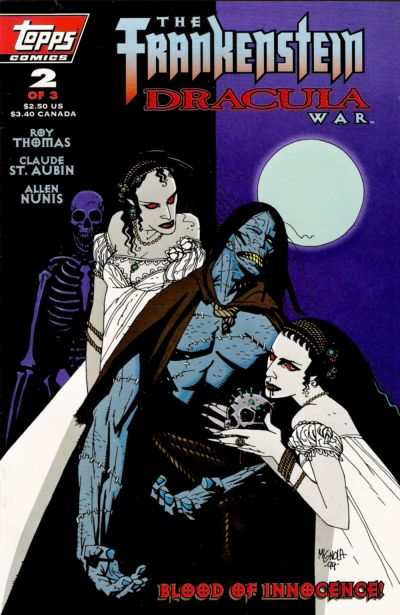 Frankenstein/Dracula War #2 comic books - cover scans photos Frankenstein/Dracula War #2 comic books - covers, picture gallery