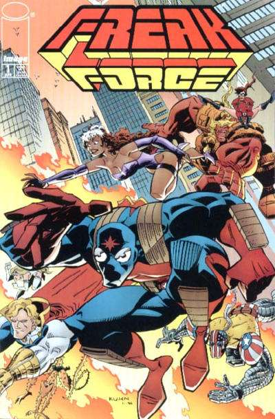 Freak Force #1 comic books - cover scans photos Freak Force #1 comic books - covers, picture gallery