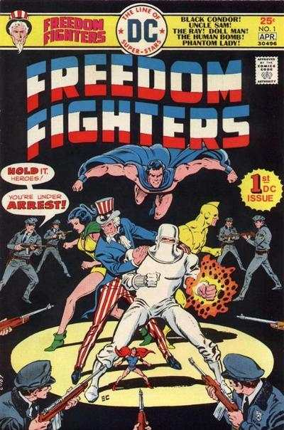 Freedom Fighters #1 Comic Books - Covers, Scans, Photos  in Freedom Fighters Comic Books - Covers, Scans, Gallery