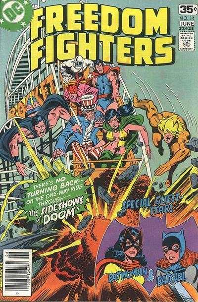 Freedom Fighters #14 Comic Books - Covers, Scans, Photos  in Freedom Fighters Comic Books - Covers, Scans, Gallery
